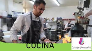 Curso de cocina en el INET